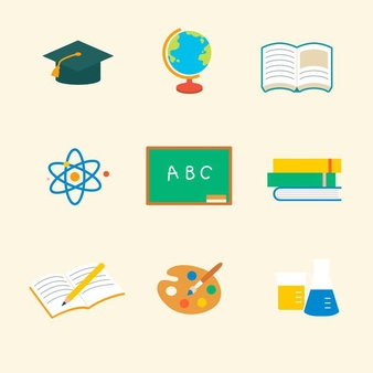 educational icon vector flat graphic set 53876 105804
